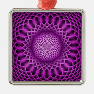 Swirling dreams, hot pink (I) Metal Ornament