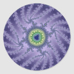 Swirling Eye - Fractal Classic Round Sticker