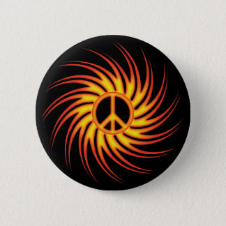 SWIRLING FIRE PEACE SIGN BUTTON