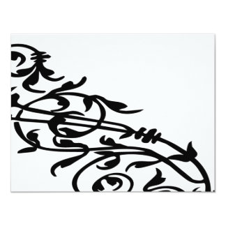 Swirling Floral 4.25x5.5 Paper Invitation Card