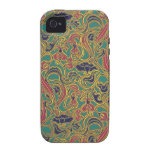 Swirling floral wallpaper, 1966-1968 vibe iPhone 4 covers