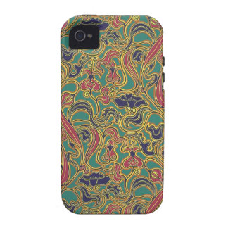Swirling floral wallpaper 1966-1968 vibe iPhone 4 covers