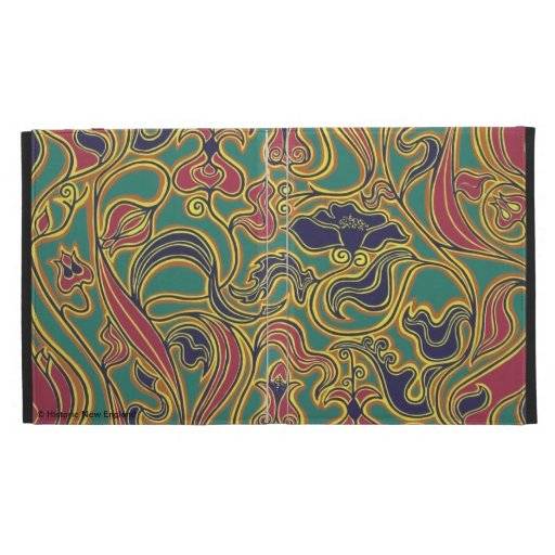 Swirling floral wallpaper, 1966-1968 iPad folio covers