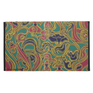 Swirling floral wallpaper, 1966-1968 iPad folio cases