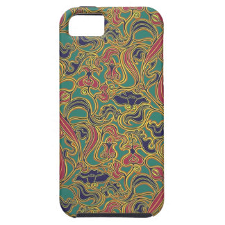 Swirling floral wallpaper, 1966-1968 iPhone SE/5/5s case