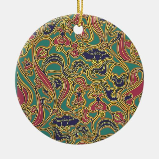 Swirling floral wallpaper, 1966-1968 ornament