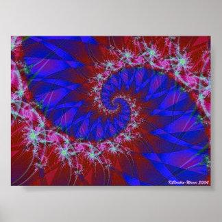 Swirling Flower Power Poster