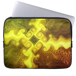 Swirling Fractal Art Laptop Sleeve