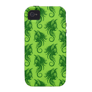 Swirling Green Cat Pattern Case-Mate iPhone 4 Case