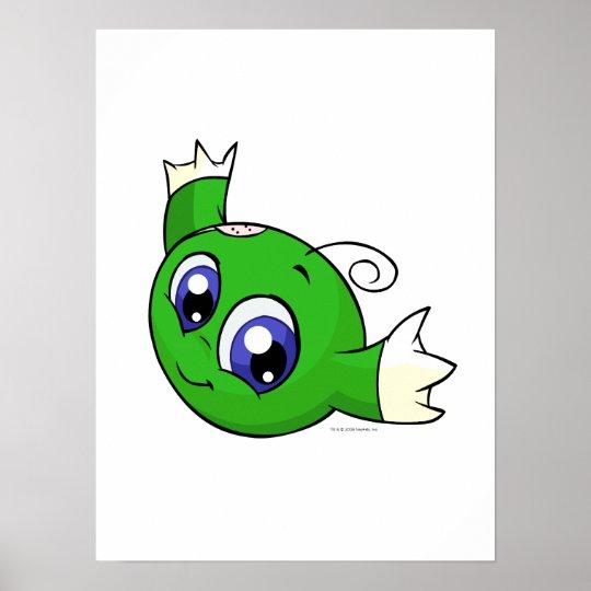 Swirling green kiko poster