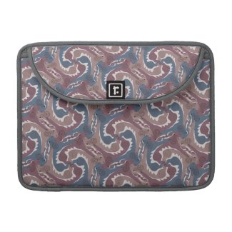 Swirling Hares Tesselation Blue Brown Sleeve 7 Sleeve For MacBooks