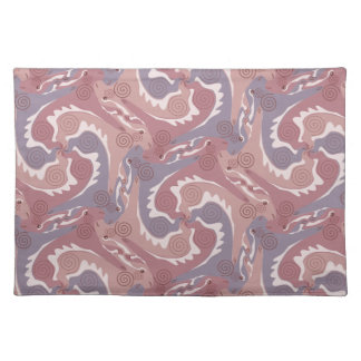 Swirling Hares Tesselation soft Purple Placemat 2
