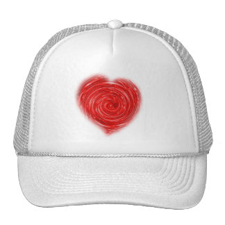 Swirling Heart Hat