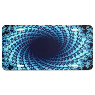Swirling Illusion License Plate