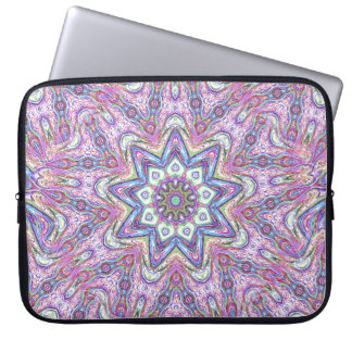 Swirling Lavender Star Laptop Sleeve