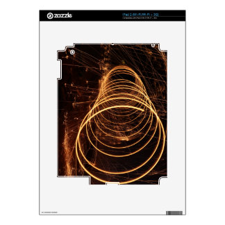 Swirling Light Decal For The iPad 2
