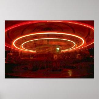 Swirling Lights Poster