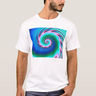 Swirling Liquid Glass (2) Blue and Green T-Shirt