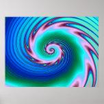Swirling Liquid Glass (2) Poster