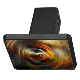 Swirling Movement Red Trailer Hitch Covers