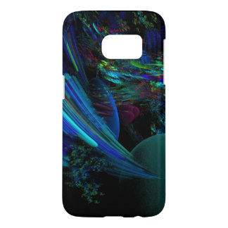 Swirling Moving Blues Reds and Greens in Black Samsung Galaxy S7 Case