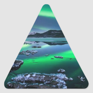 Swirling Night Sky Shadow Triangle Sticker