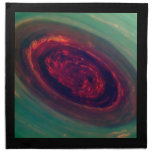 Swirling North Pole of Saturn Cloth Napkins
