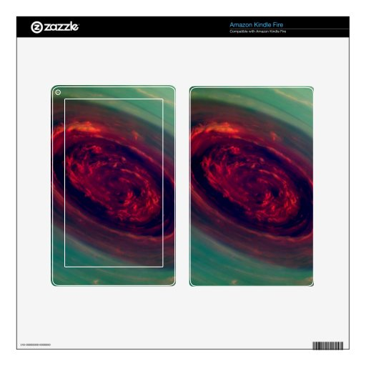 Swirling North Pole of Saturn Decal For Kindle Fire