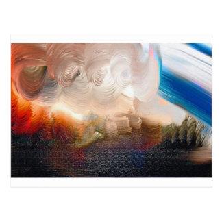 Swirling Paint Daubs Postcard