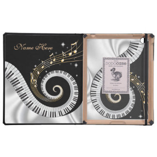 Swirling Piano Keys DodoCase iPad Folio Cases
