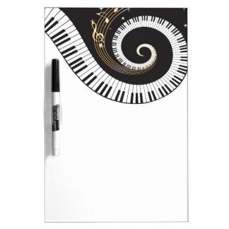 Swirling Piano Keys Dry Erase Board