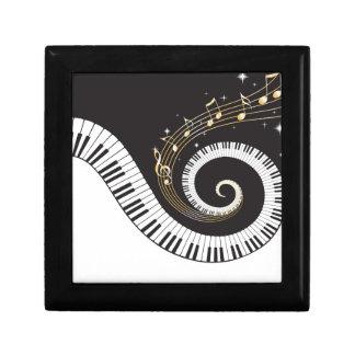 Swirling Piano Keys Keepsake Box