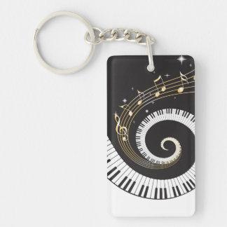 Swirling Piano Keys Keychain