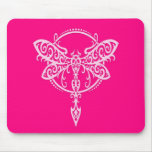 Swirling Pink Dragonfly Mousepad