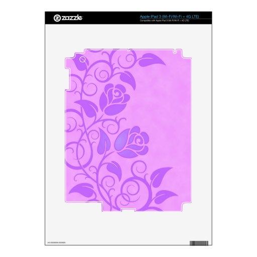 Swirling Purple Roses iPad 3 Skins
