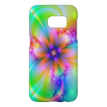 Swirling Rainbow Flower Abstract Samsung Galaxy S7 Case