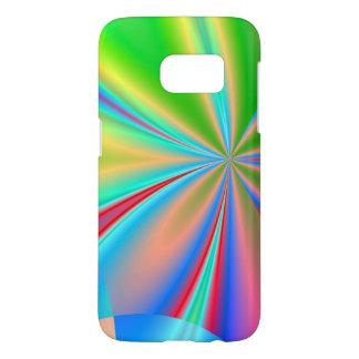 Swirling Rainbow Pinwheel Abstract Samsung Galaxy S7 Case