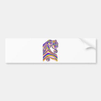 Swirling Rainbows Bumper Sticker