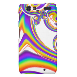 Swirling Rainbows Droid RAZR Covers