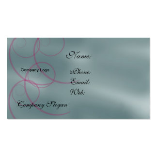 Swirling Red Curls Business Card