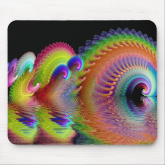 Swirling Refections of Psychedelic Mouse Pad