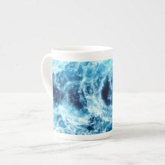 Swirling Sea Bone China Mugs