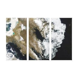 Swirling Sea Ice Baffin Island Canvas Print