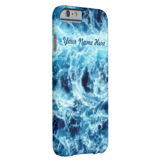 Swirling Sea Personalized Barely There iPhone 6 Case