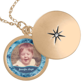 Swirling Sea Photo Personalized Locket