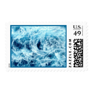 Swirling Sea Postage Stamp