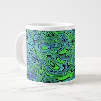"""Swirling Seas"" 20 Oz Large Ceramic Coffee Mug"