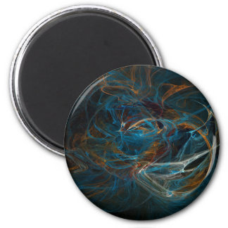 Swirling seconds 2 inch round magnet