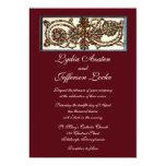 "Swirling Shells Wedding Invitation 5"" X 7"" Invitation Card"