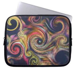 Swirling Sky Abstract Laptop Travel Sleeve Computer Sleeve